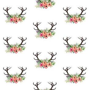 Floral Deer Antlers