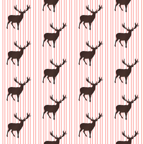 Deer with Stripes fabric by shopcabin on Spoonflower - custom fabric