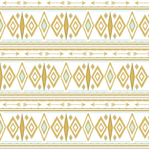 Aztec Arrow in Gold and Mint