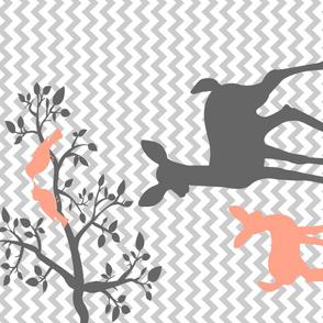 Deer Silhouette Blanket