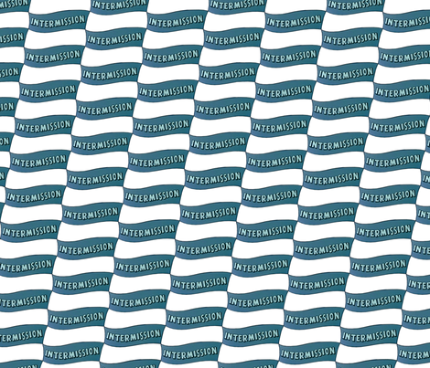 Dean's Drive-In Intermission Banner fabric by midcoast_miscellany on Spoonflower - custom fabric