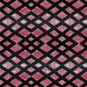 Red Black Checkered Print Repeat Pattern
