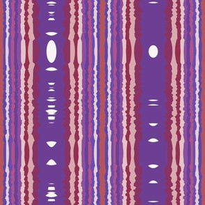 Berry Tribal Stripe
