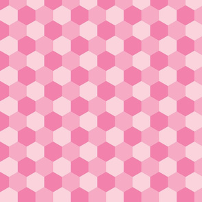 pastel pink hexagons