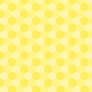 pastel yellow hexagons