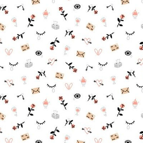 Sad valentines day pattern