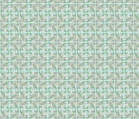 Green Vintage Flowers fabric by caroline_bosker on Spoonflower - custom fabric