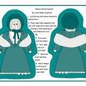 Helena Cut and Sew Doll Ornament