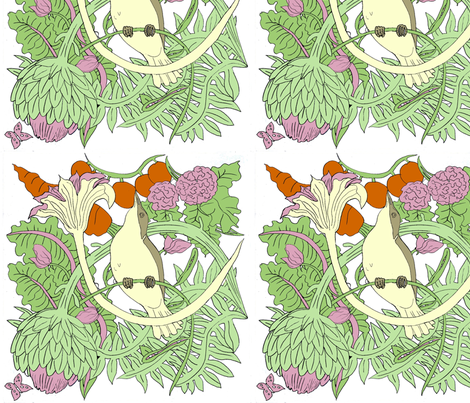 Little Birds  fabric by caroline_bosker on Spoonflower - custom fabric