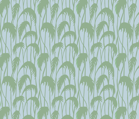 Swaying reeds fabric by threebearsprints on Spoonflower - custom fabric