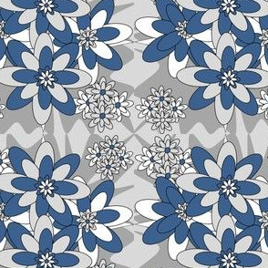 Beautiful Victorian Flowers Fabric #6