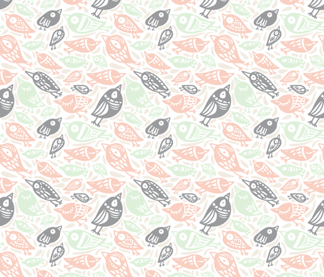 sunday birds fabric by ana_harrill on Spoonflower - custom fabric