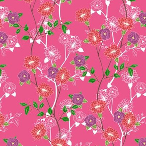 Floral (pink)