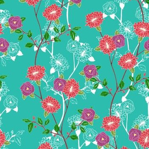 Floral (Turquoise)