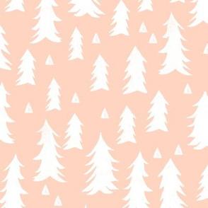 trees // blush kids nursery baby tree forest woodland baby girl nursery