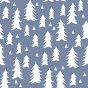 tree // trees stonewash blue kids nursery forest