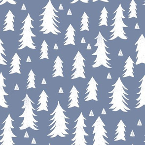tree // trees stonewash blue kids nursery forest