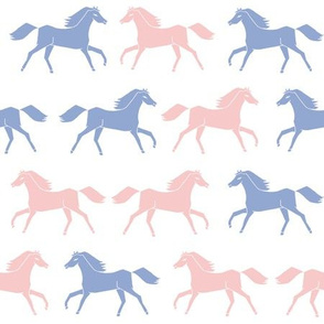 horses // pantone 2016 rosequartz serenity blue periwinkle blue and pink sweet horses