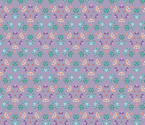 Sheet_crystals_15_lilac fabric by natalisha_dnt on Spoonflower - custom fabric