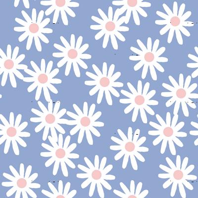Daisies // pantone serenity blue