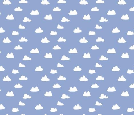 Clouds pantone serenity pastel blue nursery gender for Unisex baby fabric