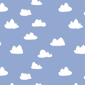 Clouds // pantone serenity pastel blue nursery gender neutral baby newborn