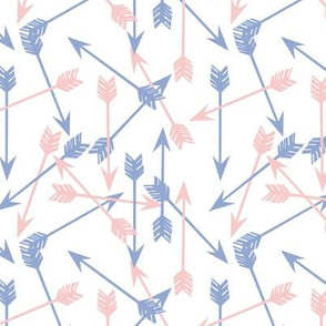 Scattered Arrows // gender neutral pantone pink and blue