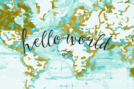 "Hello World Lovey // 18"" x 27"" fabric by ivieclothco on Spoonflower - custom fabric"