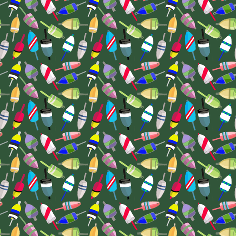 2015_01_22_BBT-_bouy_9_Green_Offset fabric by booma_bow_ties on Spoonflower - custom fabric
