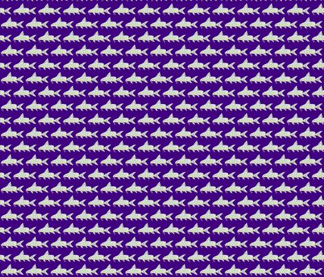 Angel Squeaker Upside-down Catfish negative purple fabric by combatfish on Spoonflower - custom fabric