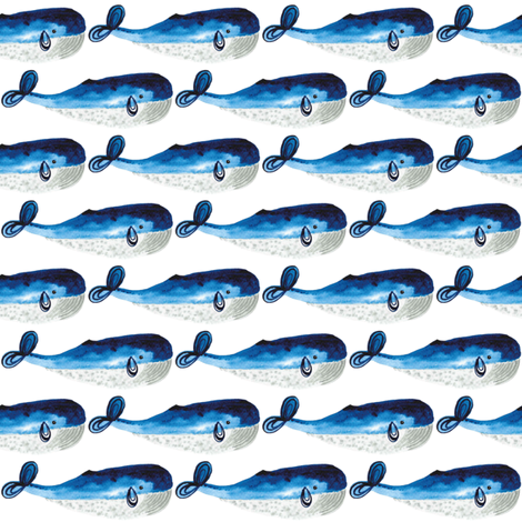 whale fabric by ruth_robson on Spoonflower - custom fabric
