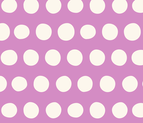 Big Dots: Orchid fabric by nadiahassan on Spoonflower - custom fabric