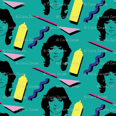 80_s_hairstyle_fabric_design