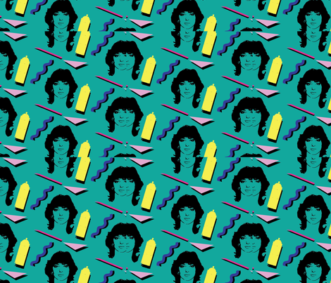 80_s_hairstyle_fabric_design fabric by carla_zarate_s_ on Spoonflower - custom fabric