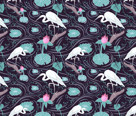 Wetlands fabric by ay_laurita on Spoonflower - custom fabric
