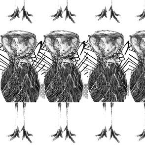 interspecies__bird_trio black and white