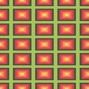 Green, Pink, and Gold Rectangles