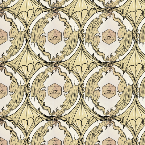 D20 dragon fabric by vanity_games on Spoonflower - custom fabric