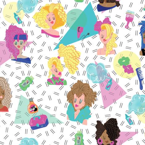 80s Hair fabric by kauaidrygoods on Spoonflower - custom fabric