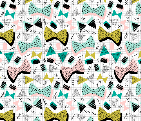 80s hair bows fabric by heleen_vd_thillart on Spoonflower - custom fabric