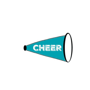 CHEER  Large - teal