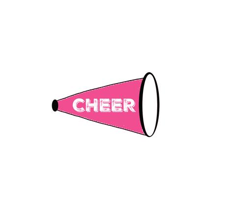 CHEER  Large - hot pink fabric by drapestudio on Spoonflower - custom fabric