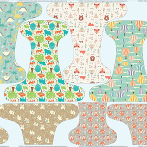 OS Fitted Cloth Diaper 56 inch
