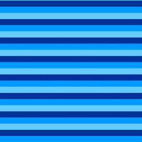 Blue Dolphin Stripes by Cheerful Madness!!