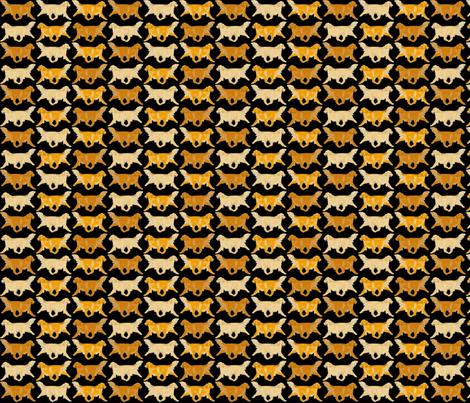 Trotting Golden Retriever border B - small fabric by rusticcorgi on Spoonflower - custom fabric