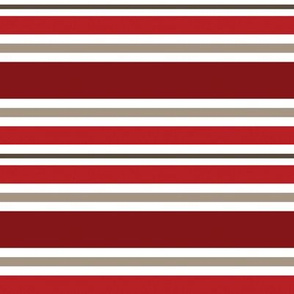 Red & Taupe Stripe