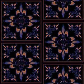 fleur-de-lis_square_black_purple_orange