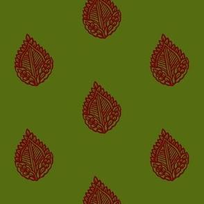 Falling Leaf Bloodstone