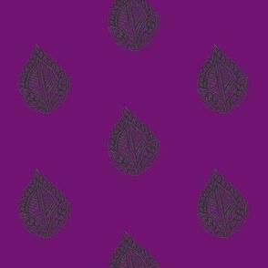 Falling Leaf Black Orchid