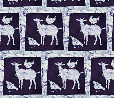 batik goat 2 fabric by hooeybatiks on Spoonflower - custom fabric